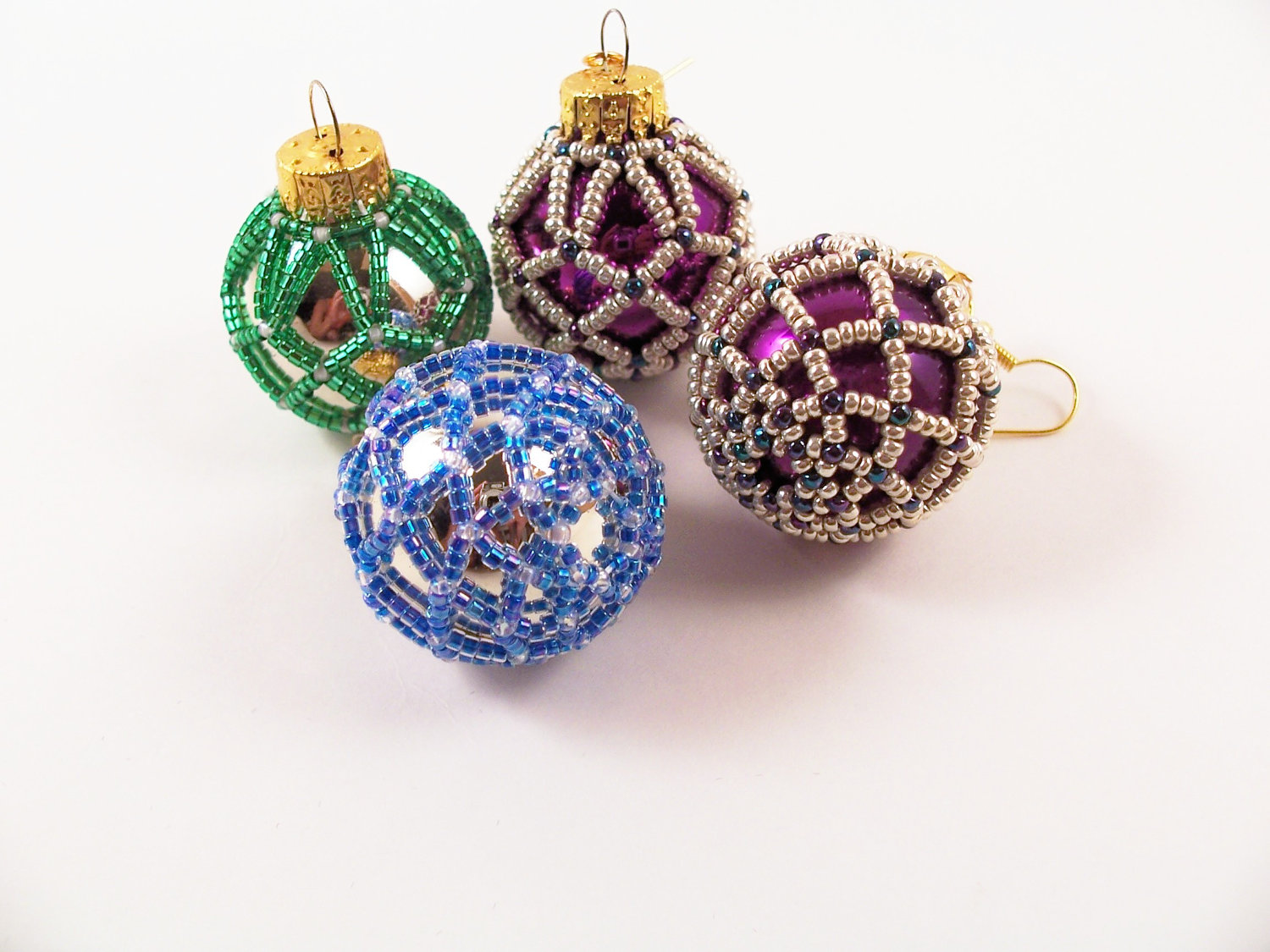 Beaded Christmas Ornament 5