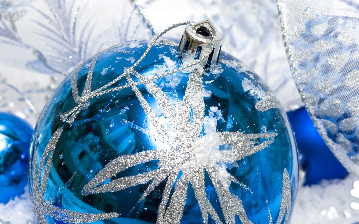 Blue Christmas Ornament 3
