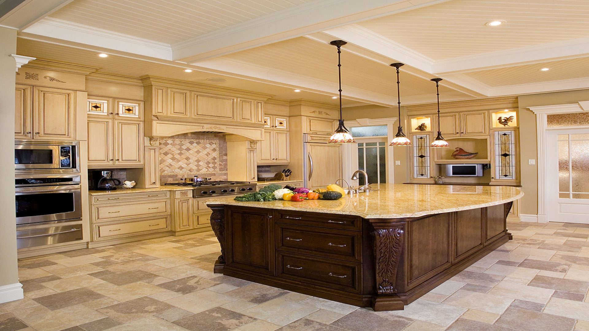 Kitchen remodeling ideas pictures photos for Kitchen designs american style