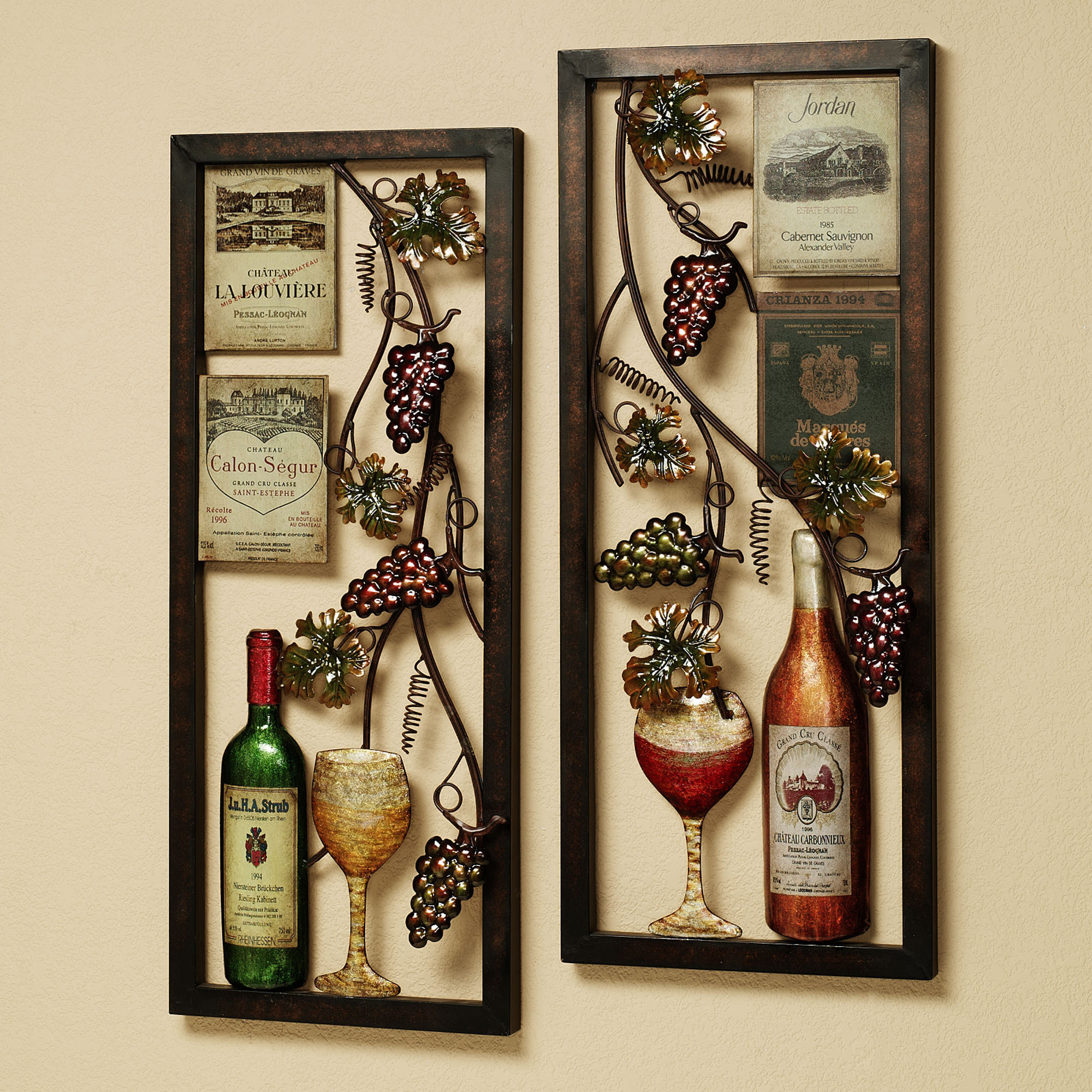 Kitchen wall decor pictures photos for Wine and dine wall art