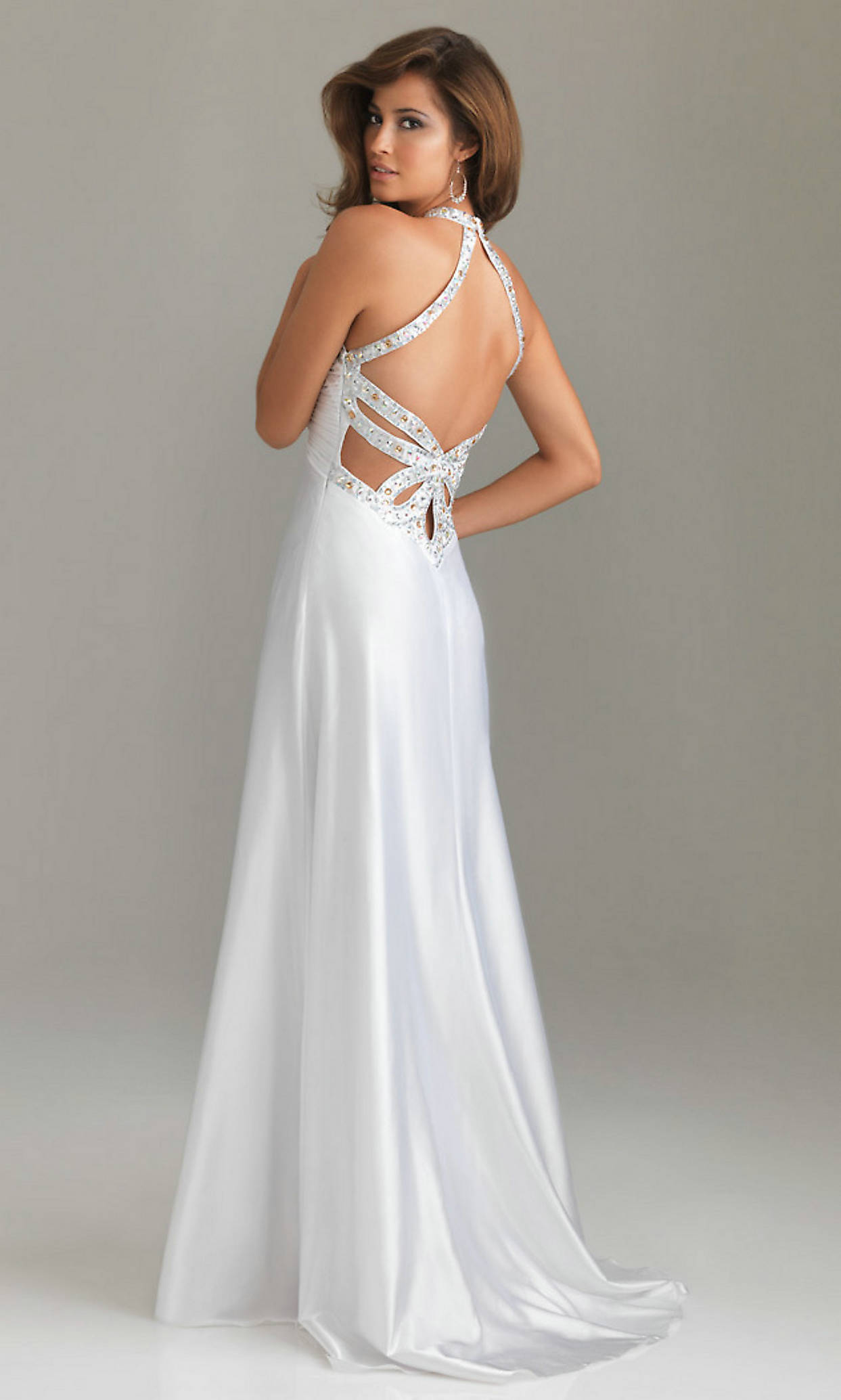 Elegant Long White Prom Dresses