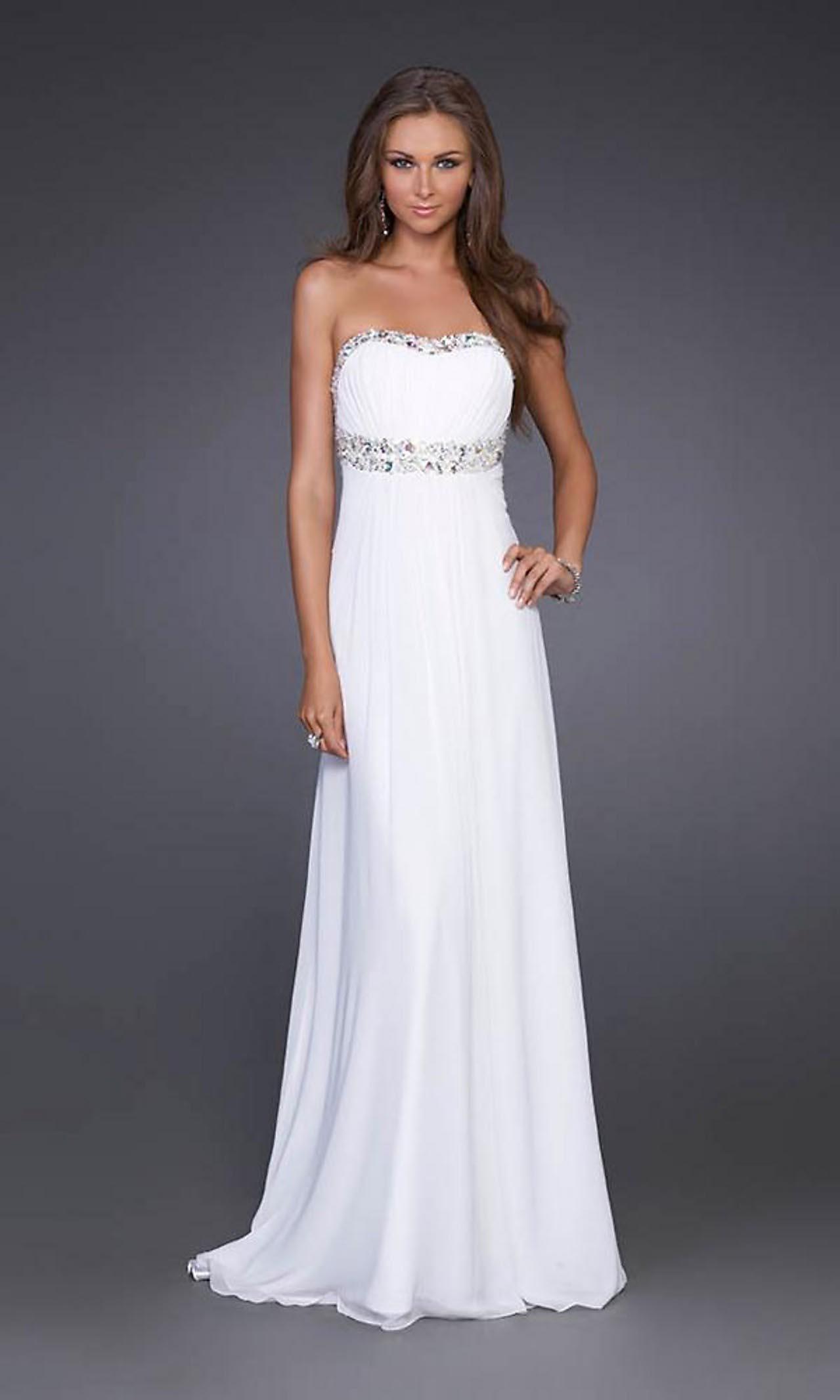 Simple White Prom Dress
