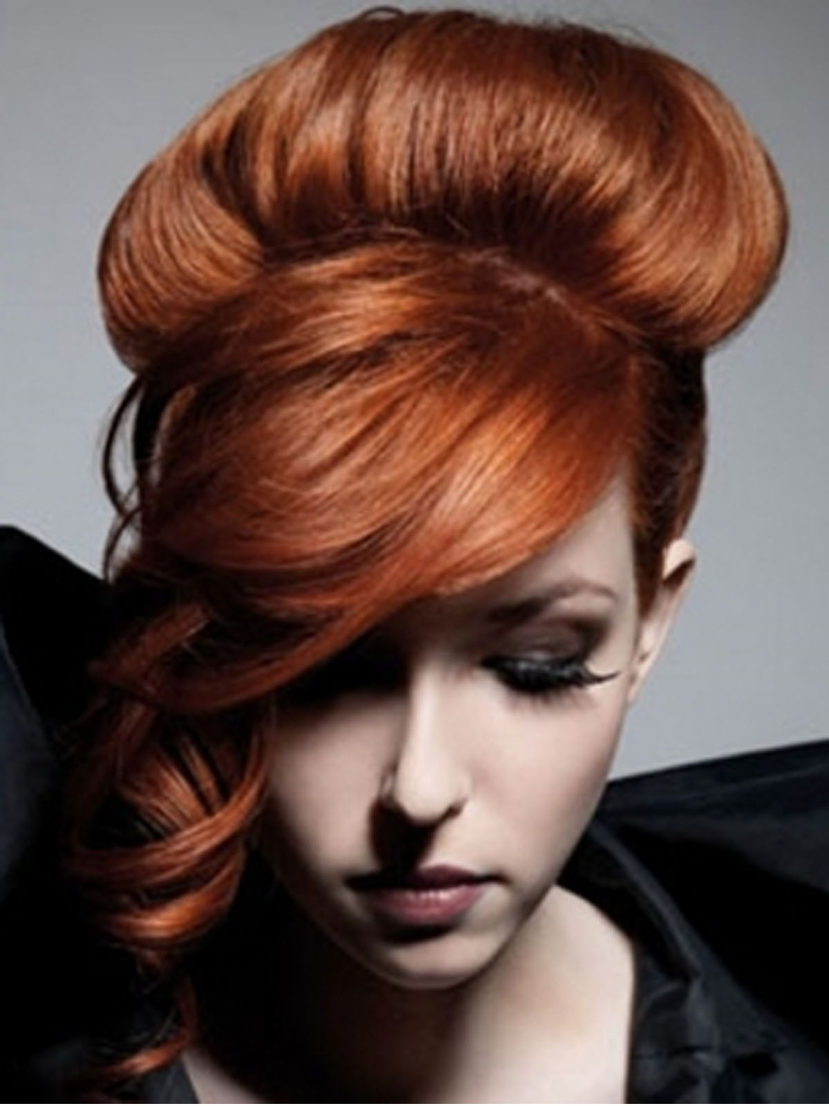 Hairstyle for Long Red Hair Color