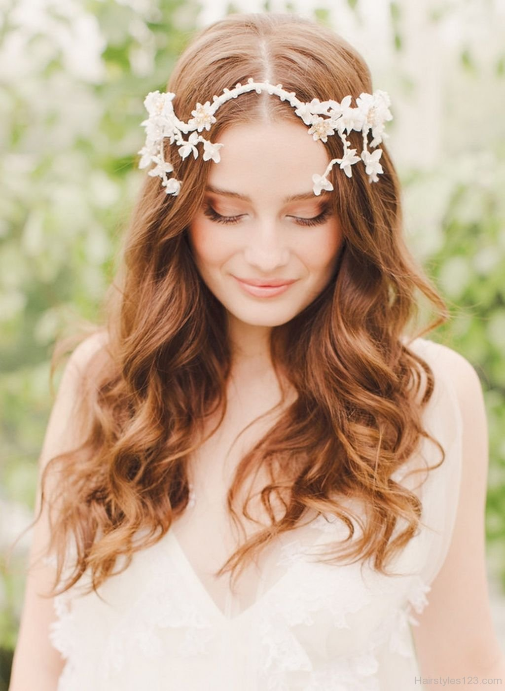 Wedding Hairstyles for Long Hair with Headpiece