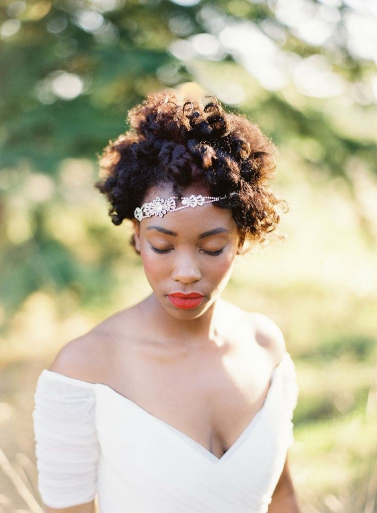 Afro Natural Wedding Hairstyles
