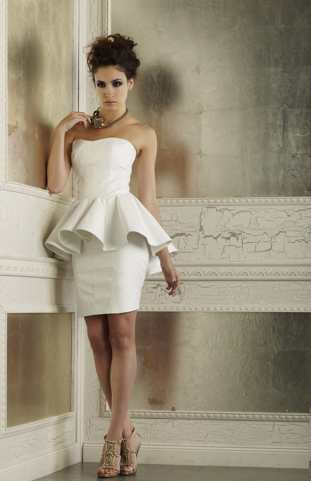 Short Peplum Wedding Dress