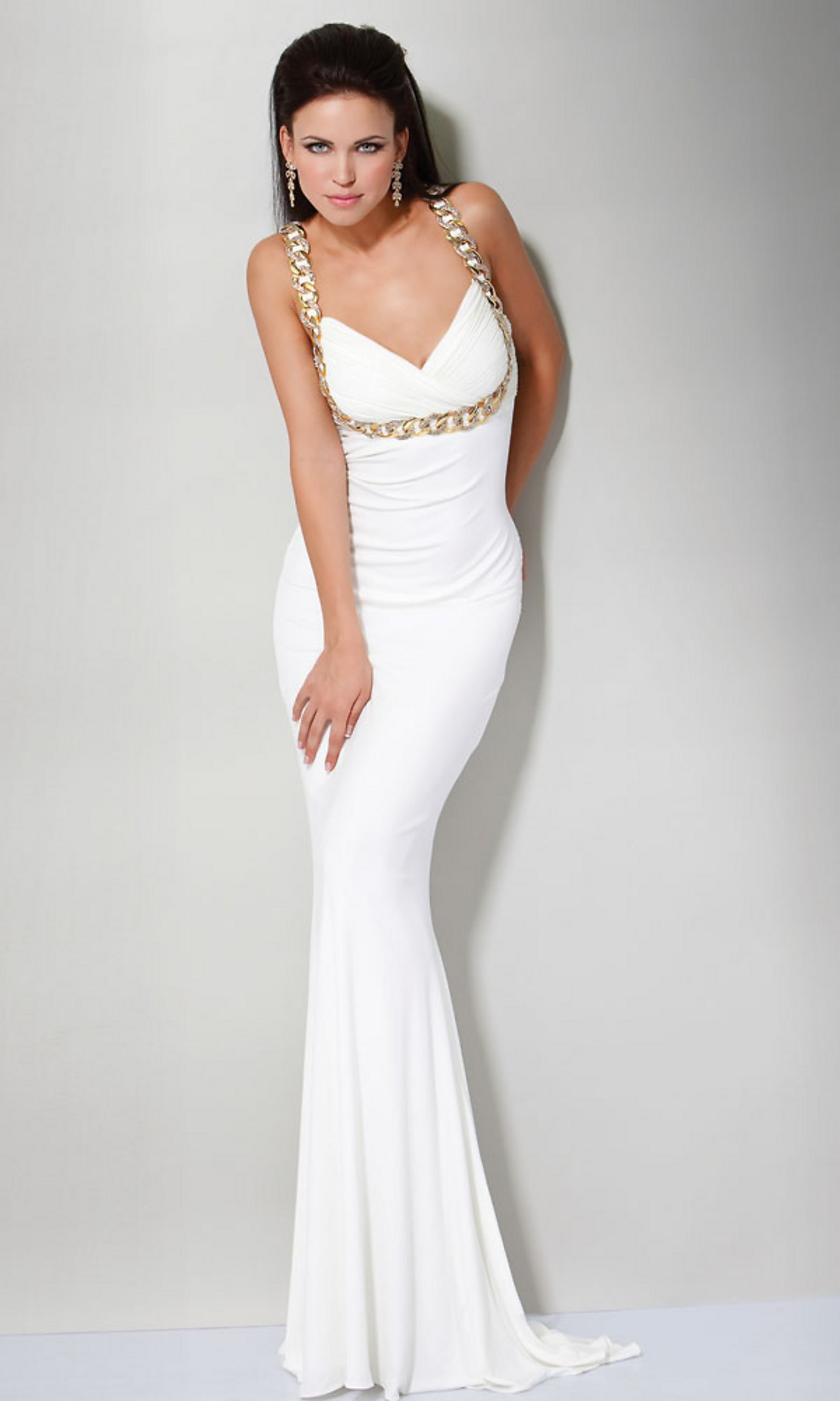 White Prom Dresses with Sleeves