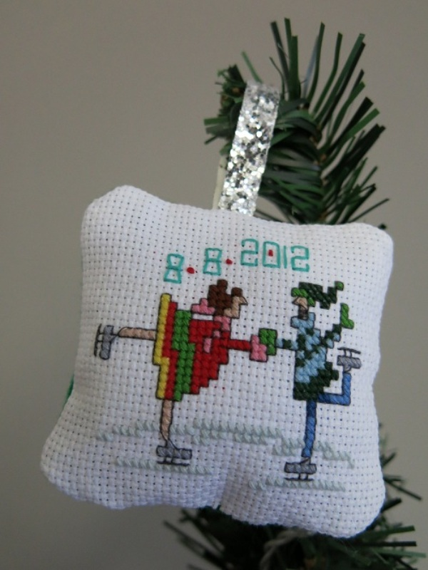 wedding-cross-stitch-christmas-ornaments